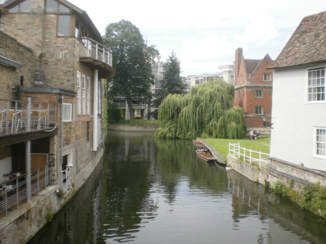 Canals lead behind the College Buildings