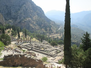 View over Temple & Delphi