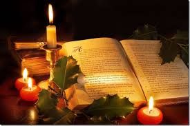 Xmas Candle with bible